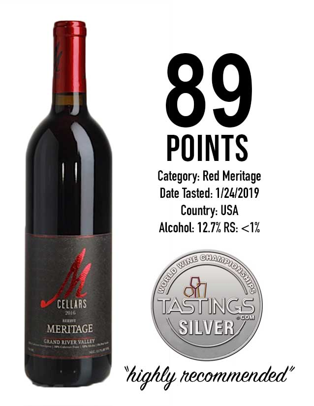 wine tastings award | 89 points