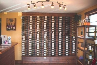 m cellars wine wall and shop