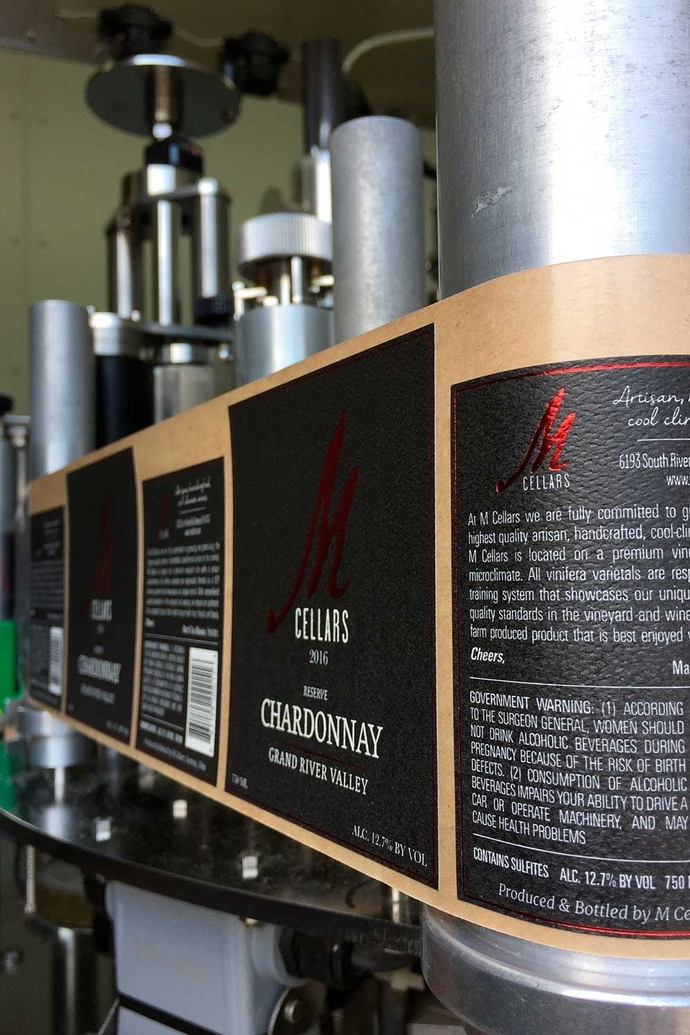 m cellars bottling labeling